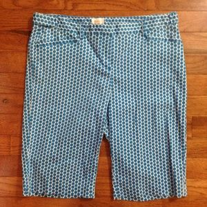 Laundry by Shelli Segal Blue Bermuda Shorts Sz 4